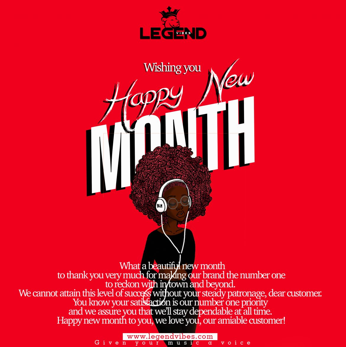 [NEWS]Legendvibes Wishing You Happy New Month