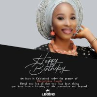 HAPPY BIRTHDAY!!! Legendvibes Celebrate Olaosebikan Angela